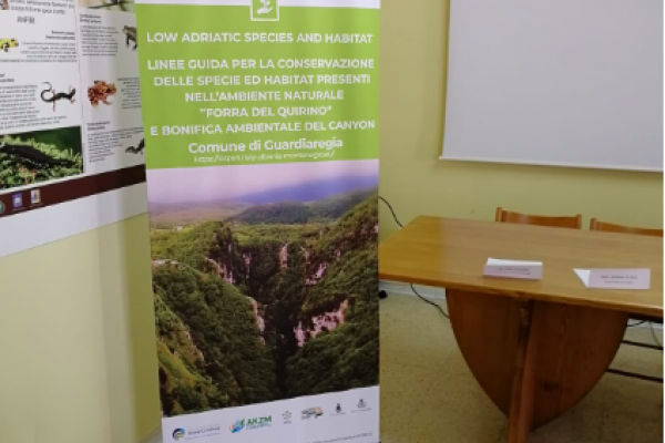 Press Conference in Guardiaregia for the end of reclamation works
